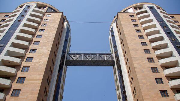 Башни-близнецы в микрорайоне Ераз, Ереван - Sputnik Արմենիա