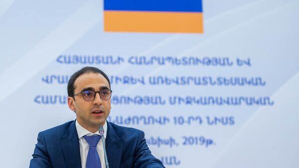 Вице-премьер Армении Тигран Авинян во время десятого заседания межправительственной комиссии по торгово-экономическому сотрудничеству (27 июня 2019). Еревaн - Sputnik Արմենիա
