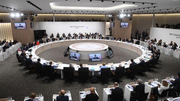 Заседании глав делегаций государств – участников Группы двадцати, приглашенных государств и международных организаций в формате рабочего обеда в Осаке - Sputnik Армения