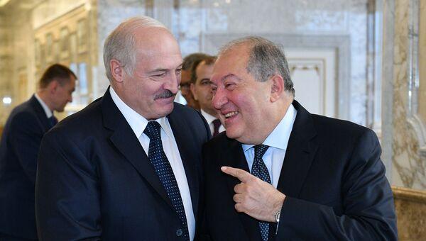 Встреча президентов Армении и Беларуси Армена Саркисяна и Александра Лукашенко (2 июля 2019). Минск - Sputnik Армения