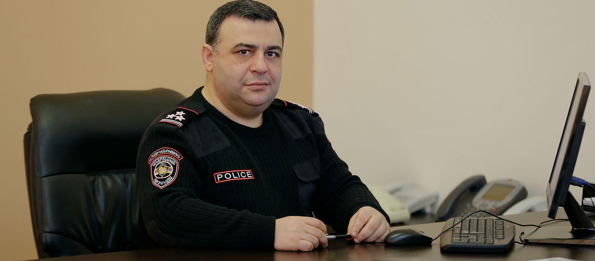 Заместитель началника полиции Ованнес Кочарян - Sputnik Արմենիա, 1920, 31.08.2020