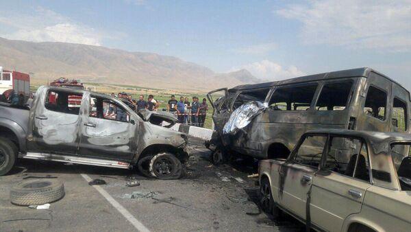 Дорожно-транспортное происшествие на трассе Ереван-Ерасх (6 июля 2019). Арарат - Sputnik Армения