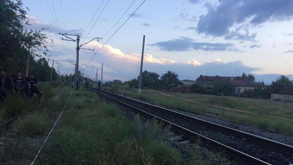 Несчастный случай на железной дороге (12 июля 2019). Гюмри - Sputnik Армения