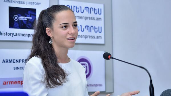 Пресс-конференция главы гражданской авиации Татевик Ревазян (15 июля 2019). Еревaн - Sputnik Армения