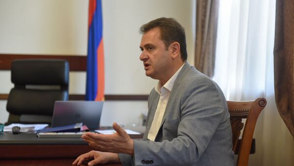 Губернатор Тавуша Айк Чобанян во время интервью агенству Sputnik Армения (18 июля 2019). Еревaн - Sputnik Армения