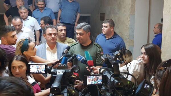 Глава СНБ Артур Ванецян отвечает на вопросы журналистов (18 июля 2019). Иджеван - Sputnik Армения