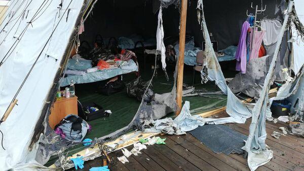 Пожар произошел в палаточном лагере под Хабаровском. 23 июля 2019 года - Sputnik Արմենիա