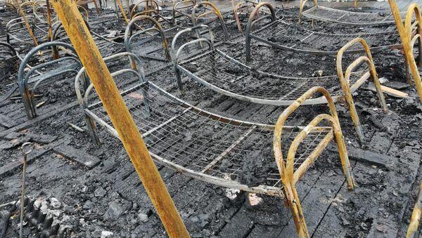Пожар в палаточном городке в Хабаровском крае - Sputnik Армения