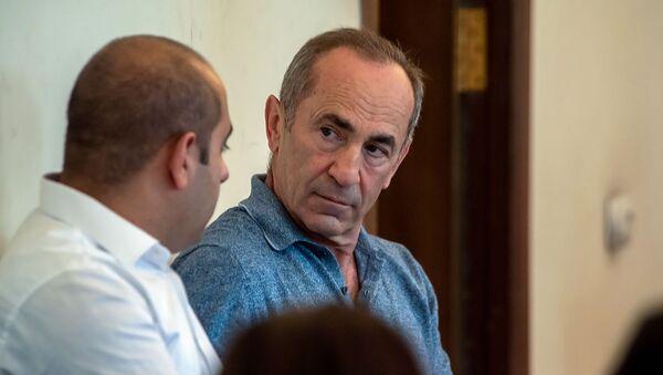 Роберт Кочарян на заседании суда по вопросу частичного снятия ареста с его имущества (24 июля 2019). Еревaн - Sputnik Армения