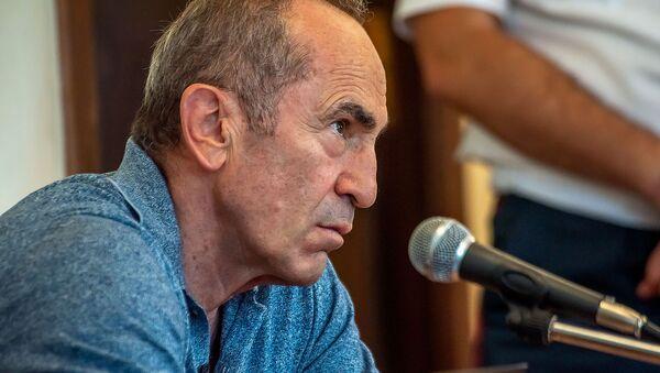 Роберт Кочарян на заседании суда по вопросу частичного снятия ареста с его имущества (24 июля 2019). Еревaн - Sputnik Արմենիա