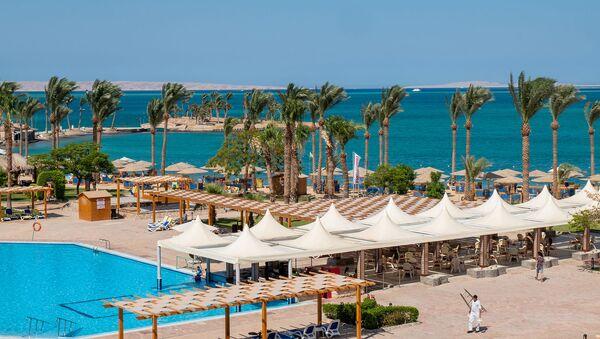 Территория гостиничного комплекса в Египте - Sputnik Արմենիա