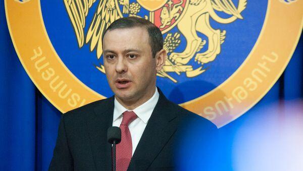 Пресс-конференция секретаря Совета безопасности Армении Армена Григоряна (26 июля 2019). Еревaн - Sputnik Армения