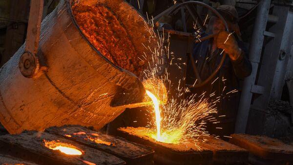 Производство шаров для рудных мельниц на медеплавильном заводе ACP, город Алаверди - Sputnik Արմենիա