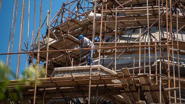 Реставрационные работы в Эчмиадзинском кафедральном соборе - Sputnik Արմենիա
