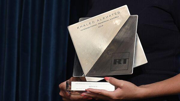 Вручение Международной премии в память о журналисте Халеде аль-Хатыбе - Sputnik Армения
