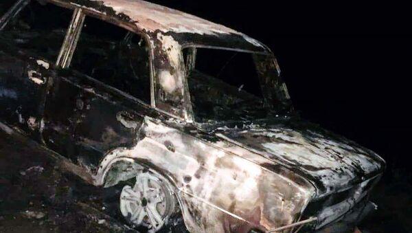 Сгоревший автомобиль ВАЗ 2106 - Sputnik Արմենիա