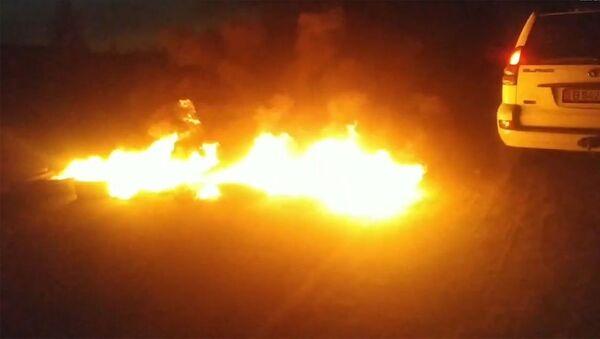 На территории дома Атамбаева пожар - Sputnik Արմենիա