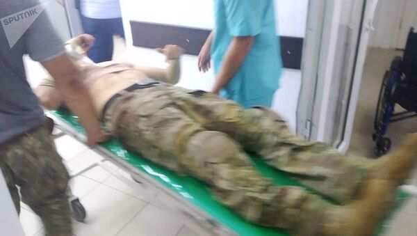 Раненный во время штурма резиденции Алмазбека Атамбаева спецназовец - Sputnik Արմենիա