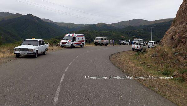 Дорожно-транспортное происшествие на трассе Горис-Степанакерт (8 августа 2019). Карабах - Sputnik Արմենիա