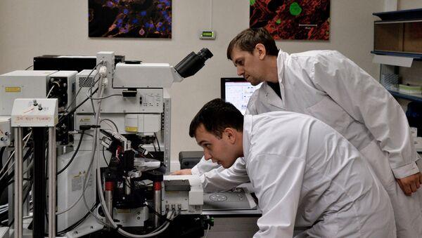 Ученые в лаборатории - Sputnik Армения