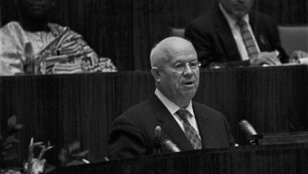 Никита Сергеевич Хрущев во время выступления. - Sputnik Армения