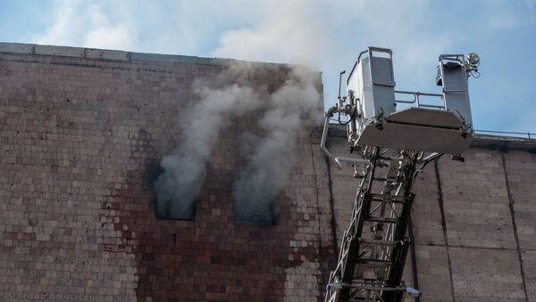 Пожар на холодильном комбинате Дзюник сарнаран - Sputnik Արմենիա
