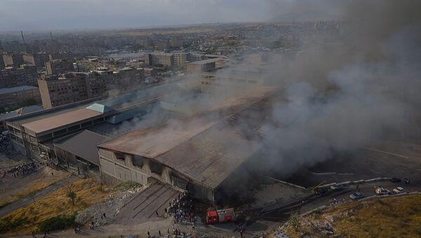 Крупный пожар вспыхнул в ТЦ Малатия Молл  - Sputnik Армения