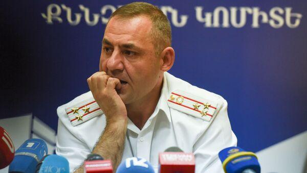 Глава следственной группы по делу Амулсара Юра Иванян на пресс-конференции (26 августа 2019). Еревaн - Sputnik Արմենիա