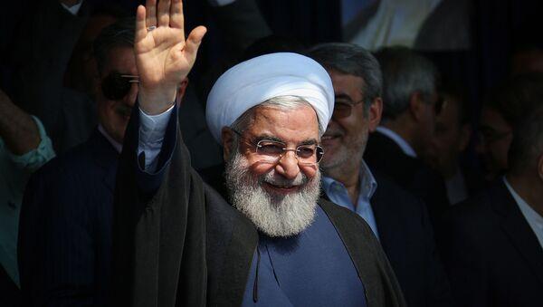 Президент Ирана Хасан Роухани во время обращения к гражданам (14 июля 2019). Ширвана - Sputnik Армения
