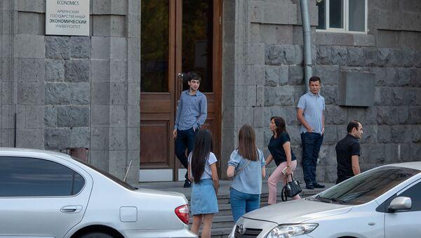Студенты Гос.экономического университета Армении объявили забастовку (2 сентября 2019). Еревaн - Sputnik Արմենիա