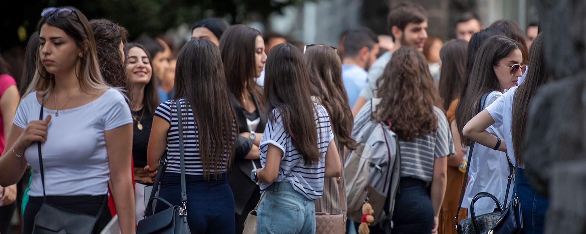 Студенты ГЭУА в первый день учебного года - Sputnik Армения, 1920, 29.07.2021