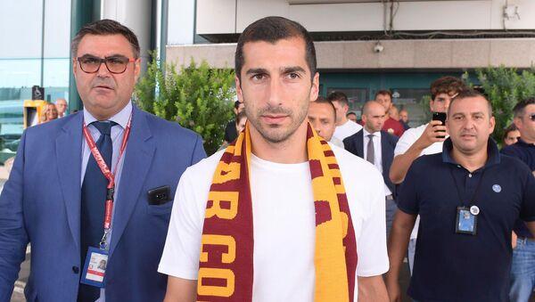Официальный twitter канал ФК Рома опубликовал фотографии прибытия Генриха Мхитаряна в Рим - Sputnik Արմենիա