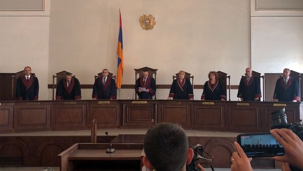 Заседание Конституционного суда Армении (4 сентября 2019). Еревaн - Sputnik Արմենիա