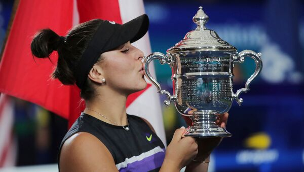 Бьянка Андрееску — канадская теннисистка. Победительница Открытого чемпионата США 2019 - Sputnik Армения