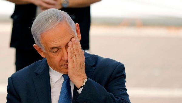 Премьер-министр Израиля Биньямин Нетаньяху во время церемонии открытия учебного года (1 сентября 2019). Поселок Элькана - Sputnik Армения