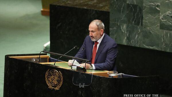 Выступление премьер-министра Армении Никола Пашиняна на 74-й сессии Генассамблеи ООН (25 сентября 2019). Нью-Йорк - Sputnik Արմենիա
