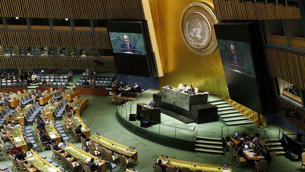 Выступление премьер-министра Армении Никола Пашиняна на 74-й сессии Генассамблеи ООН (25 сентября 2019). Нью-Йорк - Sputnik Армения