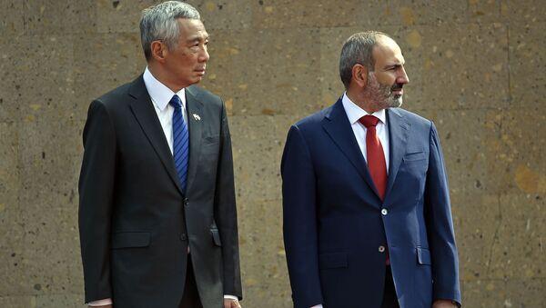 Премьер-министр Армении Никол Пашинян и премьер Сингапура Ли Сянлун - Sputnik Армения