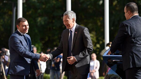 Премьер-министр Сингапура Ли Сянь Лун прибыл на расширенное заседание Высшего Евразийского Экономического Совета (1 октября 2019). Еревaн - Sputnik Արմենիա