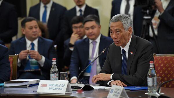 Выступление премьер-министра Сингапура Ли Сянь Луна во время расширенного заседания Высшего Евразийского Экономического Совета (1 октября 2019). Еревaн - Sputnik Армения