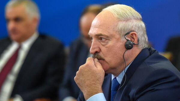Президент Беларуси Александр Лукашенко во время расширенного заседания Высшего Евразийского Экономического Совета - Sputnik Армения
