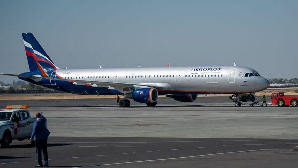Самолет авиакомпаний Аэрофлот в аэропорту Звартноц - Sputnik Армения
