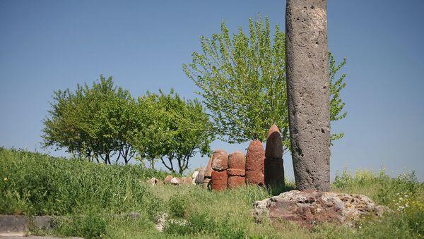 Вишап и фаллосы Мецаморского холма - Sputnik Արմենիա