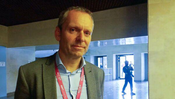 Информационный директор компании TeamViewer (Германия) Карл Маркграф на форуме WCIT (8 октября 2019). Еревaн - Sputnik Արմենիա