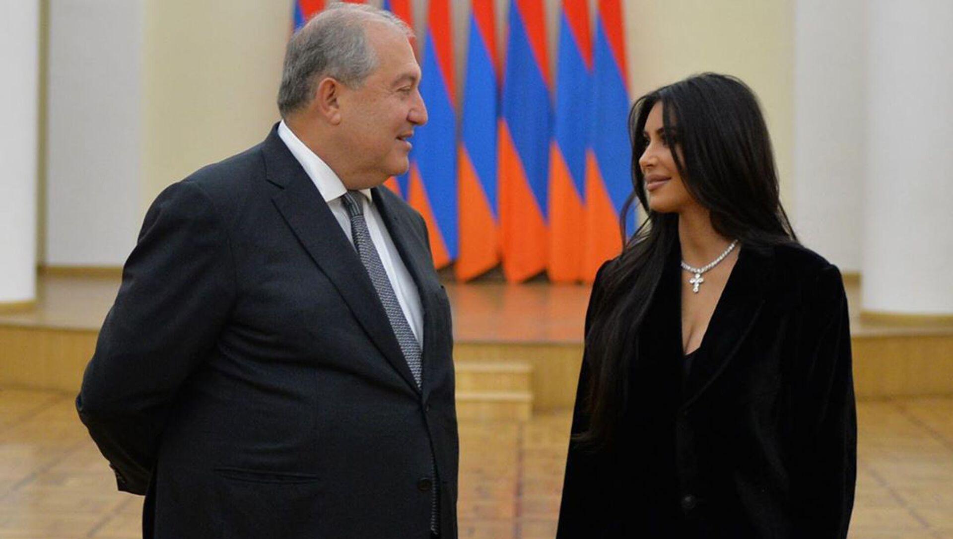 Президент Армен Саркисян встретился с Ким Кардашьян (8 октября 2019). Еревaн - Sputnik Армения, 1920, 30.04.2021