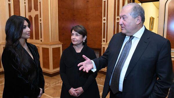 Президент Армен Саркисян встретился с Ким Кардашьян (8 октября 2019). Еревaн - Sputnik Армения