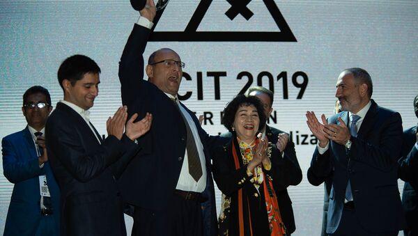 Гала ужин и церемония награждения участников форума WCIT 2019 (8 октября 2019). Еревaн - Sputnik Արմենիա