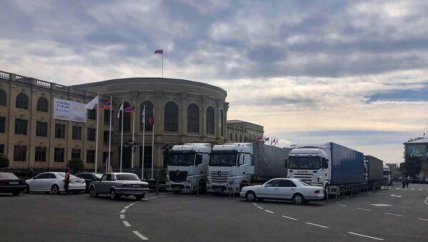 Подготовительные работы форума Аврора в Гюмри - Sputnik Արմենիա