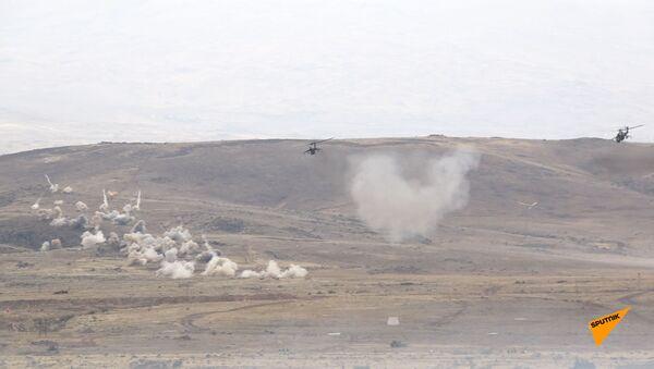 Հայաստանում կայացավ հայ–ռուսական միացյալ զորախմբի մարտավարական զորավարժությունների կրակային փուլը - Sputnik Արմենիա