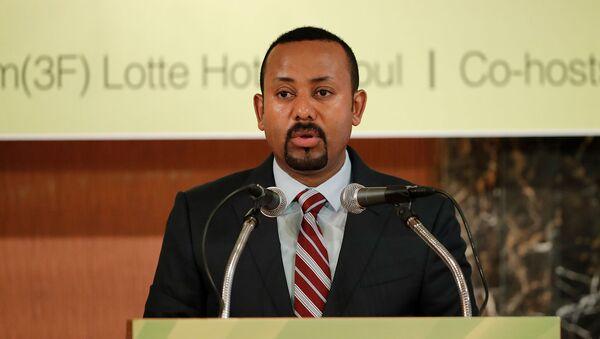 Выступление премьер-министра Эфиопии Абия Ахмеда во время эфиопско-корейского бизнес-форума (27 августа 2019). Сеул - Sputnik Արմենիա